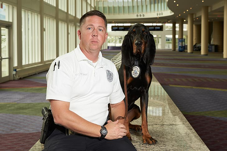 "ACE Award winner ""Copper"" and Officer Christopher Hattaway"