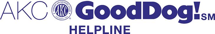 AKC GoodDog Helpline logo.
