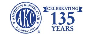 AKC Celebrating 135 Years Logo