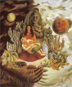 The Love Embrace of the Universe, the Earth (Mexico), Myself, Diego, and Señor Xolotl Frida Kahlo painting