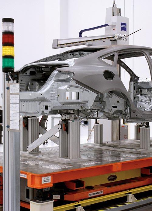 Automotive frame machine