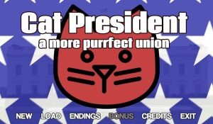 Cat President A More Purrfect Union Logo