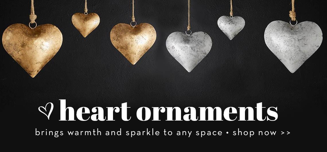 Heart shaped ornaments - shop now