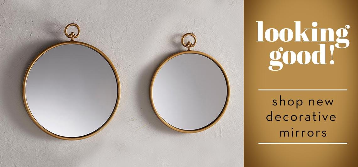 Looking good! Shop new decorative mirrors!