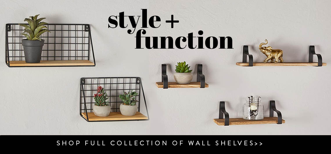 Style and function, shop full collection of wall shelves