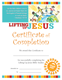 Lifting Up Jesus Certificate of Completion