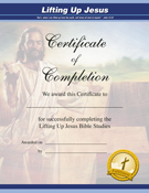 Lifting Up Jesus Certificate of Completion (25 Pack)