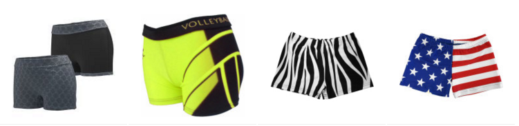 Fun volleyball shorts