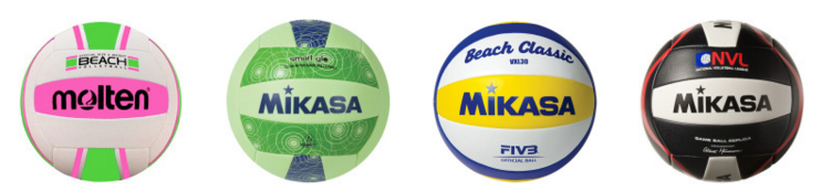 Recreactional and replical outdoor beach volleyballs