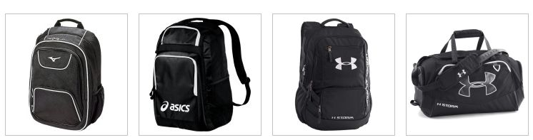 Volleyball backpacks and duffle bags