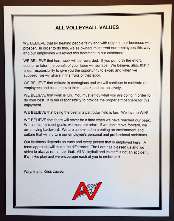 All Volleyball's Values