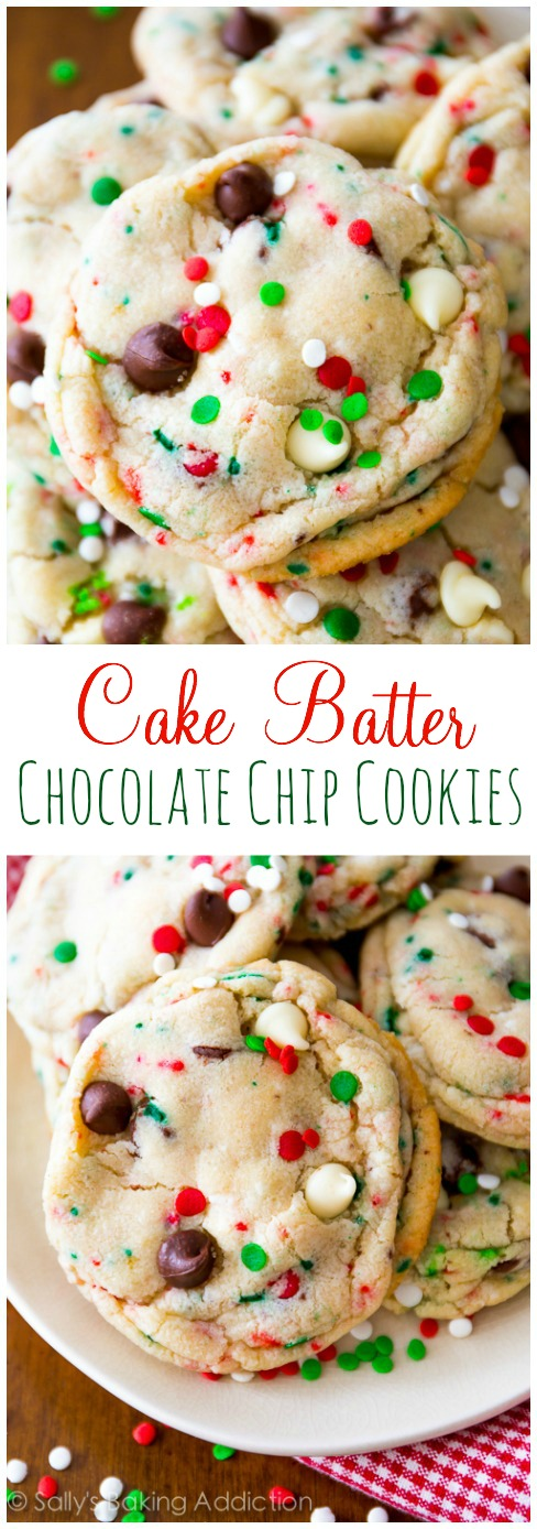 Christmas Holiday Cake Batter Cookies