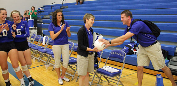 800th Win For Hermann Coach