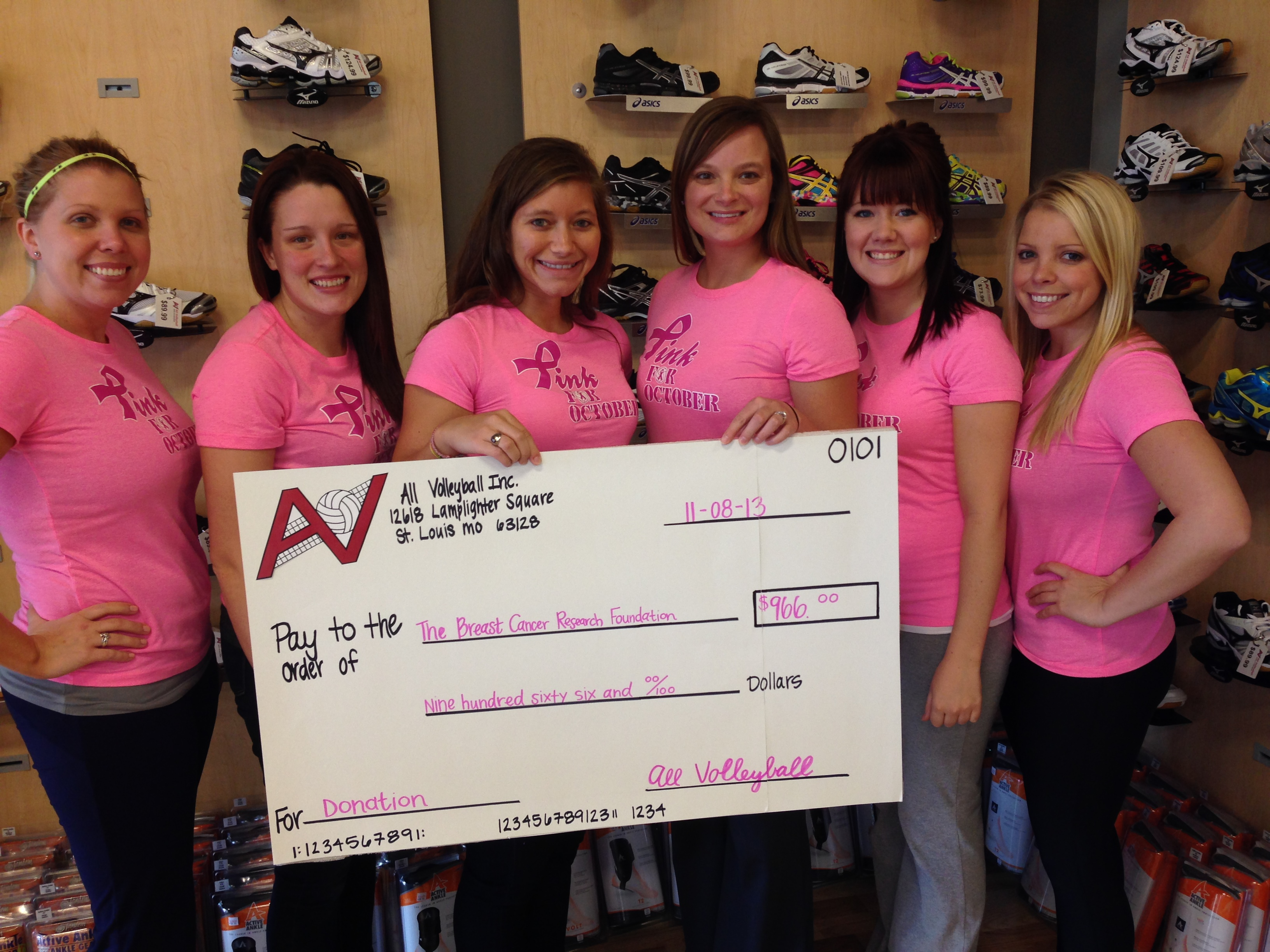 Pink Pride Donation Check