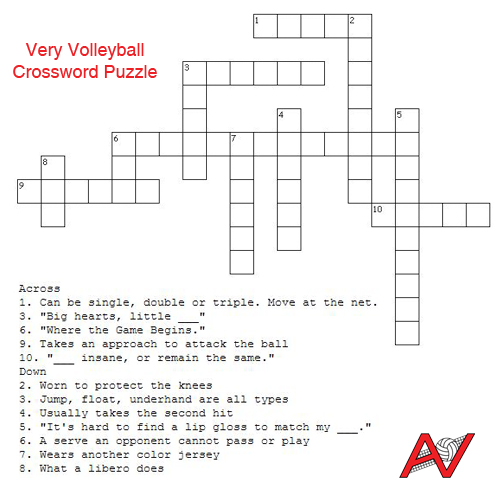 AVB's World | Very Volleyball Crossword Puzzle - photo#25