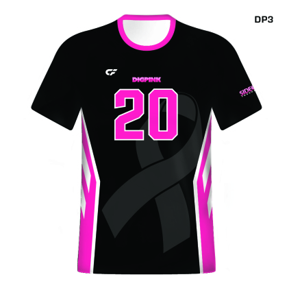CustomFuze Men's Sublimated Pro Series Short Sleeve Jersey - Dig Pink