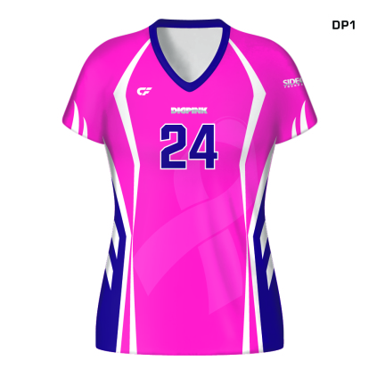 CustomFuze Women's Sublimated Pro Series Cap Sleeve Jersey - Dig Pink