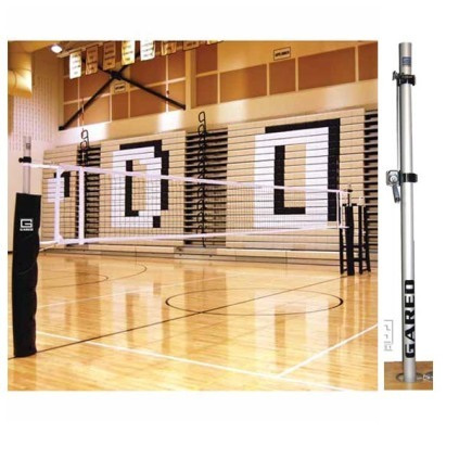 Gared 6002 RallyLine 2-Court Universal Aluminum Volleyball System