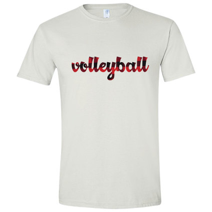 Men's Volleyball Plaid T-Shirt