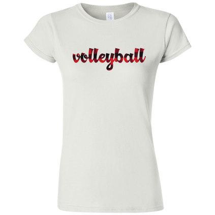 Women's Volleyball Plaid T-Shirt