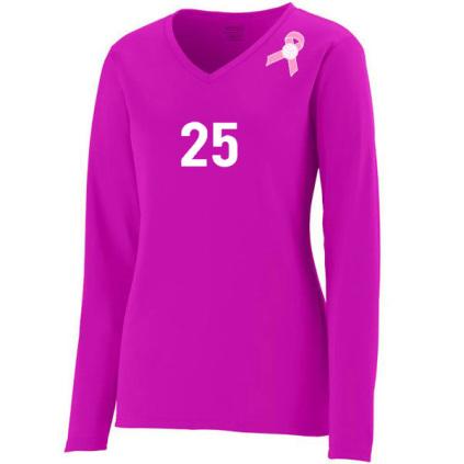 Augusta Women's Force Jersey - Pink Ribbon