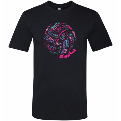 Dig Pink® Rally Words Volleyball T-Shirt