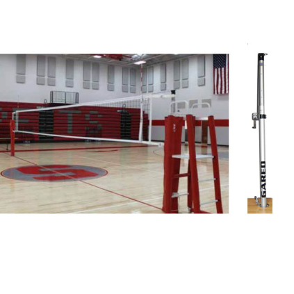 Gared RallyLine 2-Court Telescopic Aluminum Volleyball System