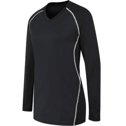 HI42162 Women's Solid Long Sleeve Jersey