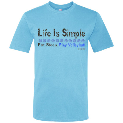 Life Is Simple T-Shirt - Sky Blue