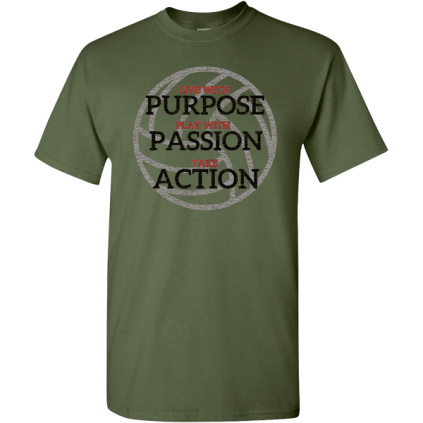 Game Faith Athletics - Live With Purpose Volleyball T-Shirt