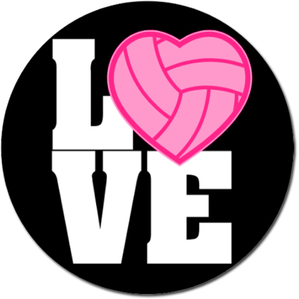 Love Volleyball Sticker