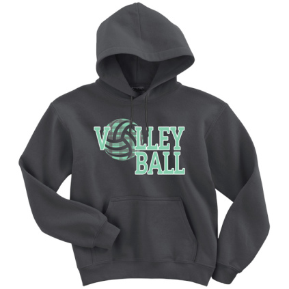 Mint Plaid Volleyball Hoodie