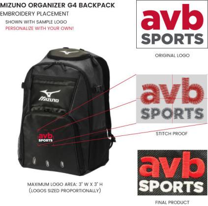 Mizuno Organizer G4 Backpack - Black - Club Director Special