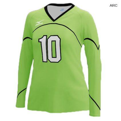 Mizuno Women's 440380 (Custom / Sublimated) Long Sleeve Jersey