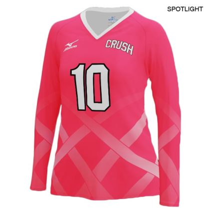 new style b4f6a f713d Mizuno Women's Custom Sublimated Long Sleeve Jersey
