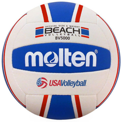 Molten BV5000-3 Elite Beach Volleyball - Red/White/Blue