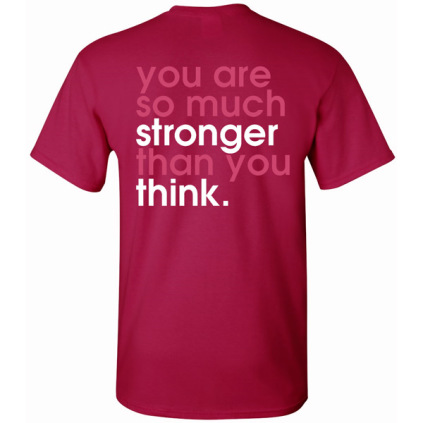 No Excuses - Stronger Than You Think Volleyball T-Shirt