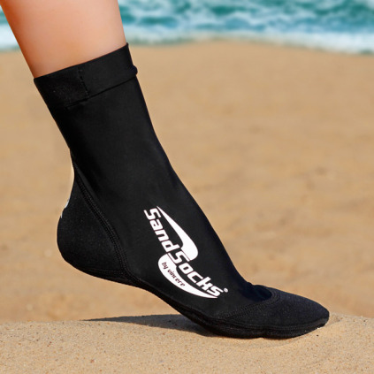 Vincere Classic Grip Sand Socks Soft Soled Booties for Boating Beach Black XL