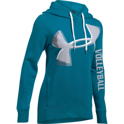 Under Armour Exploded Logo Volleyball Hoodie - Teal