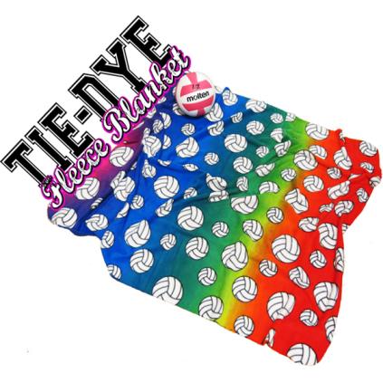 Volleyball Print Blanket - Tie Dye