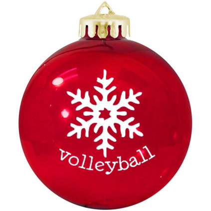 Volleyball Ornament - Snowflake