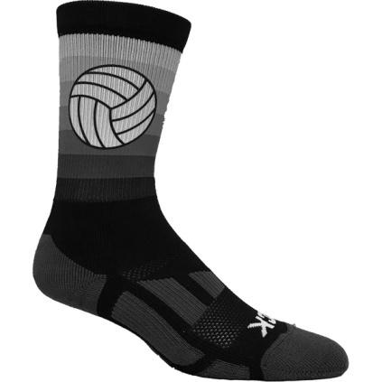 Volleyball Stripe Crew Socks