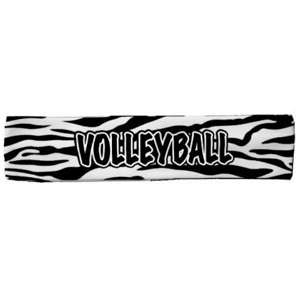 Zebra Print Volleyball Headband