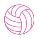 Pink Volleyball