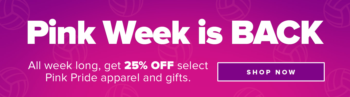 Pink Week is Back. All week long, get 25% off select Pink Pride apparel and gifts. Shop Now.