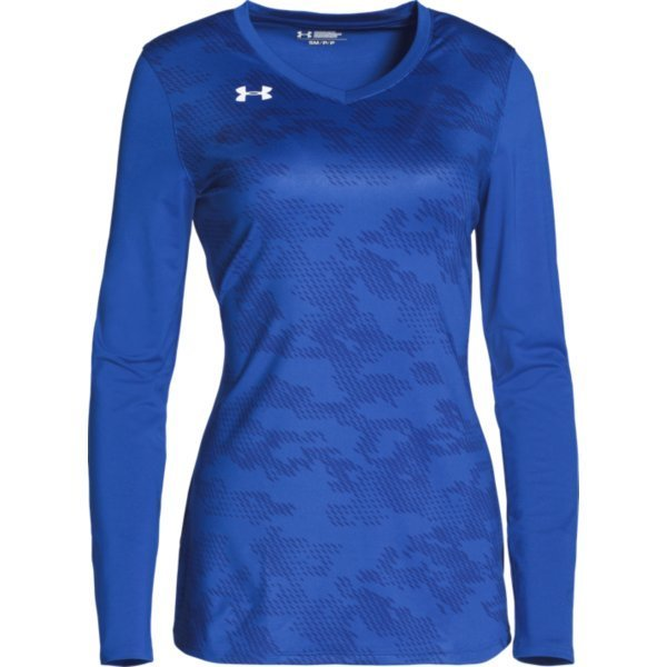 royal blue under armour long sleeve women's