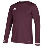 Adidas Men's Team 19 Long Sleeve Jersey Maroon