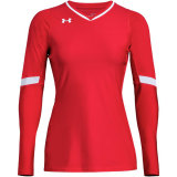 Under Armour Women's Powerhouse Long Sleeve Jersey Red