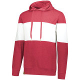 Holloway Men's Ivy League Hoodie Scarlet Heather/White