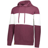 Holloway Men's Ivy League Hoodie Maroon Heather/White
